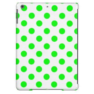 DOTS in BRIGHT GREEN! (polka dots) iPad Air Case