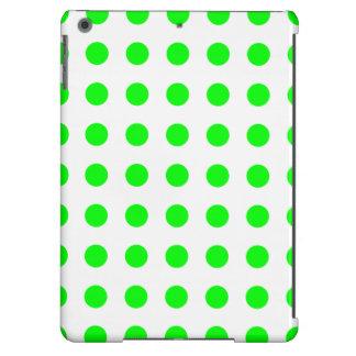 DOTS in BRIGHT GREEN! (polka dots) iPad Air Covers
