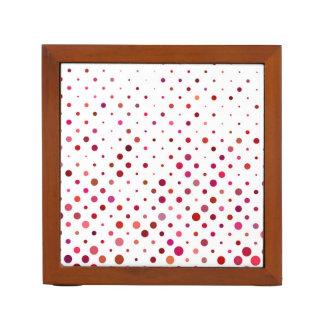 Dots in Warm Colors Desk Organiser