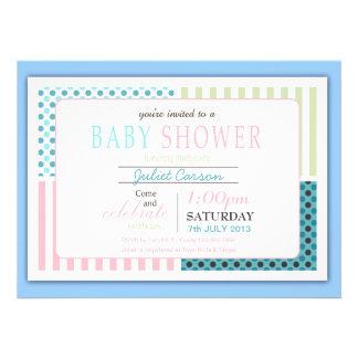 Dots n' Stripes Baby Shower Invitation