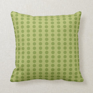 Dots of Green and Chocolate American MOJO Pillow Cushions