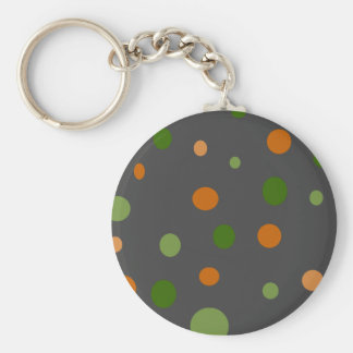 Dots On Gray Key Chain