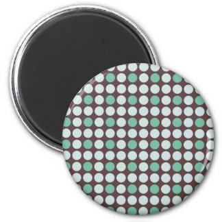 dots pattern background abstract texture circle ro 6 cm round magnet