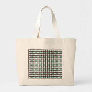 dots pattern background abstract texture circle ro large tote bag