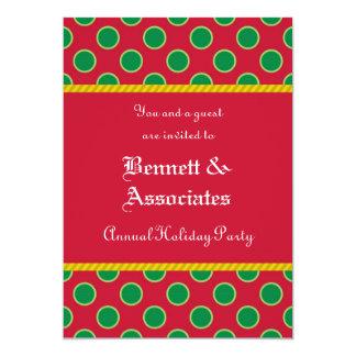 Dots Pattern Holiday Party Invitation