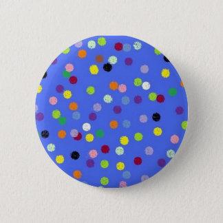 dots,polka 6 cm round badge