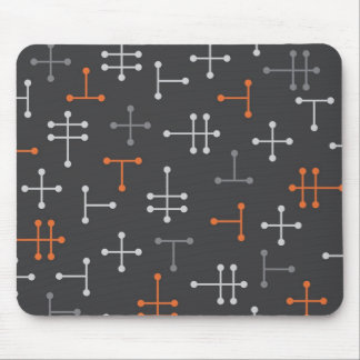 Dots - Retro Modern Abstract Mousepad