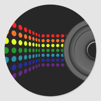 Dots & Speaker Classic Round Sticker