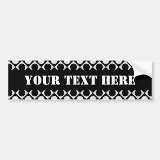 Dots & Squares / black white + your ideas Bumper Sticker
