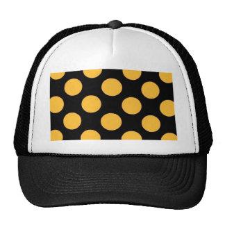 dotted black orange trucker hat