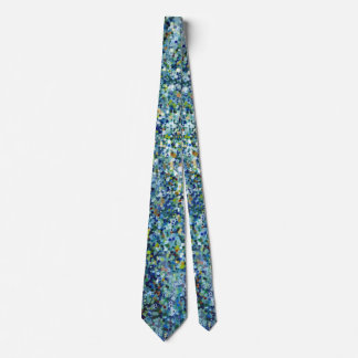 Dotted Denim Tide Men's Silk Tie by Margaret Juul