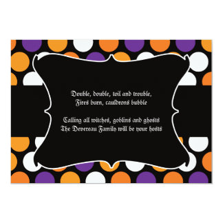 Dotted Halloween Party Invitation
