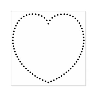 Dotted Heart Rubber Stamp