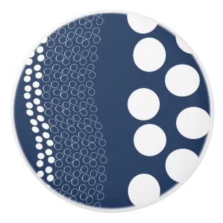 Dotted Layers - Dark Blue&White - Drawer Knob