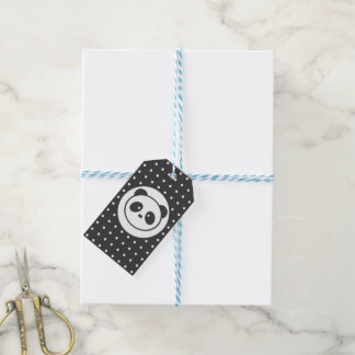 Dotted panda Gift Tags