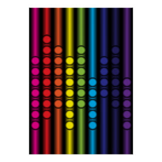Dotted Spectrum Poster