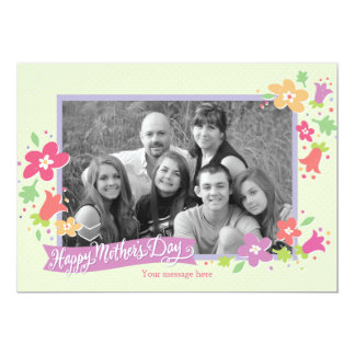 Dotted Swiss Mother's Day Greeting Card 13 Cm X 18 Cm Invitation Card