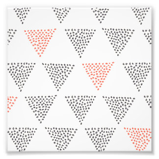Dotted Triangles Pattern #1 Photo