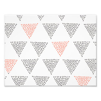 Dotted Triangles Pattern #1 Photo Print