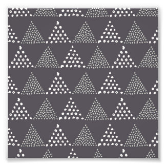 Dotted Triangles Pattern #3 Photo Print