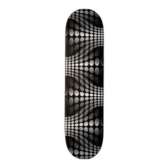 Dotted Waves Wallpaper black & white 21.6 Cm Skateboard Deck
