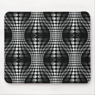 Dotted Waves Wallpaper black & white Mouse Pads