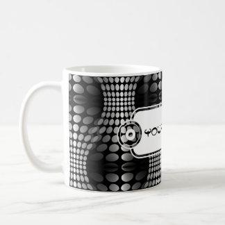 Dotted Waves Wallpaper black white Mug