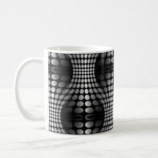 Dotted Waves Wallpaper black white Coffee Mug