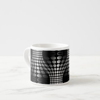Dotted Waves Wallpaper black white Espresso Mug