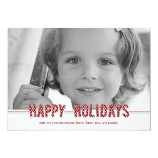 """Dotted Wishes Christmas Cards/ Holiday Photo Cards 5"""" X 7"""" Invitation Card"""