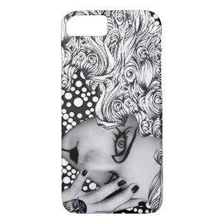 Dotted woman and owl Cellphone case