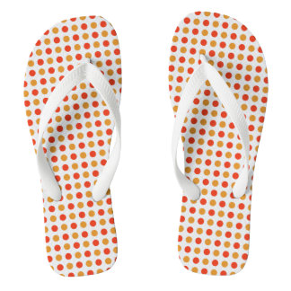 Dotted Yellow and Orange Thongs