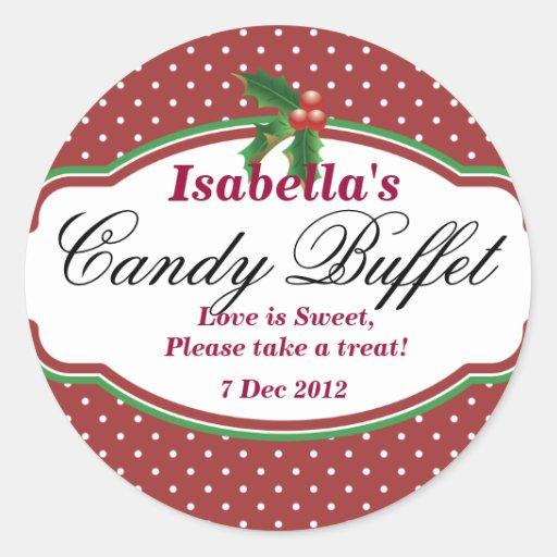 Dotty Christmas Candy Buffet Sticker