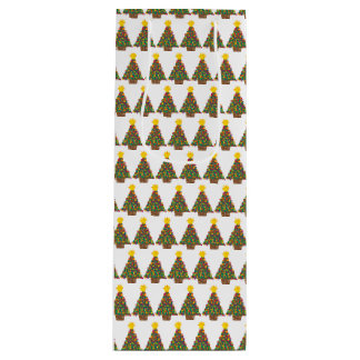 dotty christmas tree gift bag tall