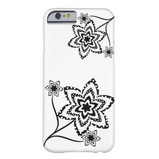 Dotty flowers in black and white. barely there iPhone 6 case