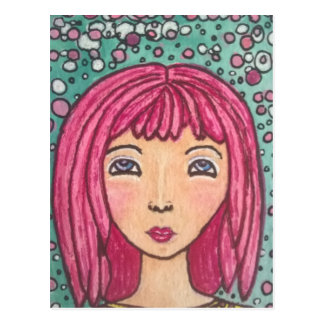 Dotty girl postcard