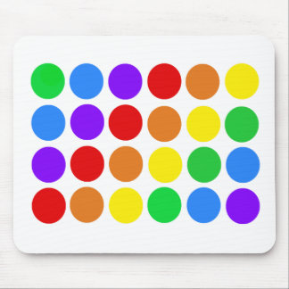 Dotty rainbow mouse pad