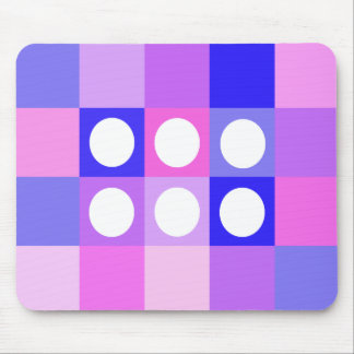 Dotty squares and circles mouse pad