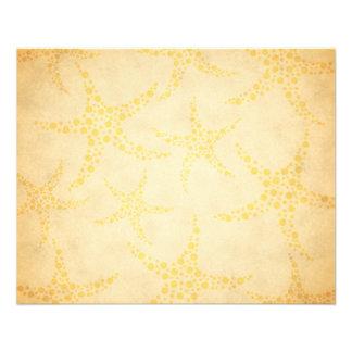 Dotty Starfish on Vintage Style Pattern Flyer