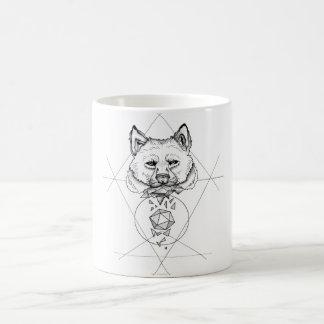 Dotwork wolf coffee mug