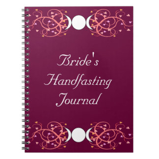 Double 3 in 1 Wiccan Lesbian Bride's Journal Spiral Note Book