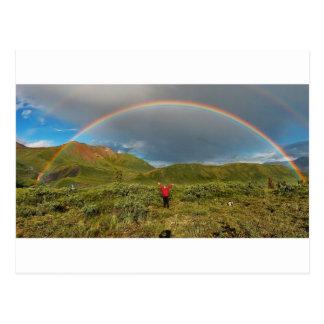 Double Alaskan rainbow, real photo! Postcard