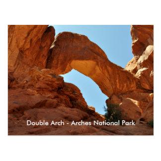 Double Arch - Arches National Park Postcard