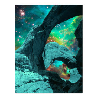 Double Arch in Space Postcard