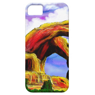 Double Arch Landscape Painting Case For The iPhone 5