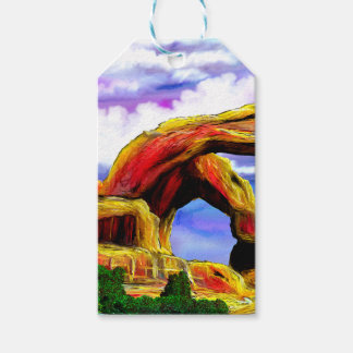 Double Arch Landscape Painting Gift Tags