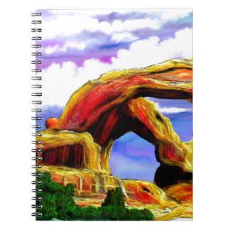 Double Arch Landscape Painting Notebook