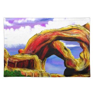 Double Arch Landscape Painting Placemat
