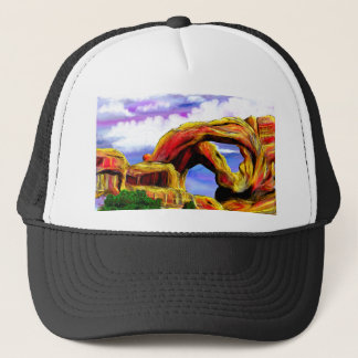 Double Arch Landscape Painting Trucker Hat
