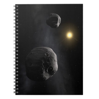 Double Asteroid Antiope Space Art Notebooks